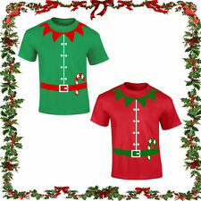 Christmas elf T-shirt Festive Joke Gift Comedy Santa Top Jumper XMAS ELF Unisex.