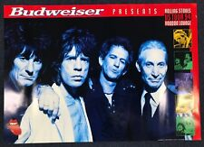 Rolling Stones US Tour 1994 Voodoo Lounge Poster by Budweiser *AUTHENTIC*
