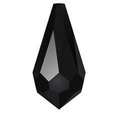 Swarovski Crystal Pendant 12 X Jet Black 11 X 5.5 Mm Teardrop Drop Beads Faceted
