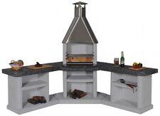 Wellfire Grillkamin / Außenküche Ardea Eckversion weiß je 188cm