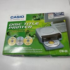 Casio CW-50 CD/DVD Thermal Printer New In Box Disc Title Printer