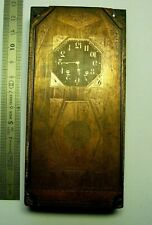 Plaque gravure horloge clock uhr regulateur carillon watchmaker Uhrmacher 9