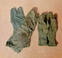 Dutch Army NATO Trigger Finger Mittens Gloves WITH Wool Liners - Medium OD Green