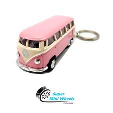 Kinsfun '67 VW Beetle / '62 VW T1 Bus Diecast Model Keychain 1:64