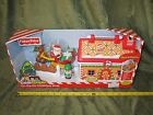 Fisher Price Little People On the Go Christmas Shop Gingerbread House Santa New