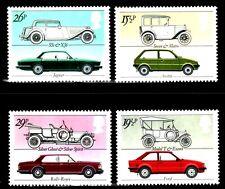 SELLOS COCHES  GRAN BRETAÑA  1982 1058/61 COCHES 4v.