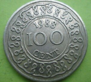 SURINAME: FOUR PIECE COIN SET 5 TO 100 CENTS