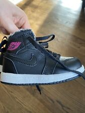 Nike Michael Jordan Toddler Shoes Black Pink Lace Sz 5 ~ EXCELLENT CONDITION ~