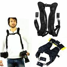 Black Double Shoulder Sling Belt Quick Rapid Strap for Sony NEX-7 NEX 7 NEX7