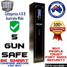 5 Gun Safe Firearm Rifle Storage Lock Box Cabinet Fort Knox Digital 18 Mths WTY
