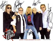 """THE GUESS WHO Canadian Rock Band 2009 Signed Original 8-1/2"""" X 11"""" PHOTO New"""
