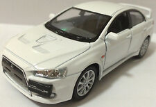 "1:36 Scale 2008 Mitsubishi Lancer Evo Evolution X diecast CAR model 5""WHITE"