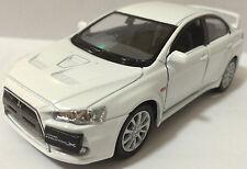 """1:36 Scale 2008 Mitsubishi Lancer Evo Evolution X diecast CAR model 5""""WHITE"""
