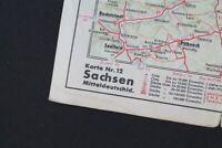 alte Karte Sachsen Karte Nr. 12 old vintage Sammler Mitteldeutschland