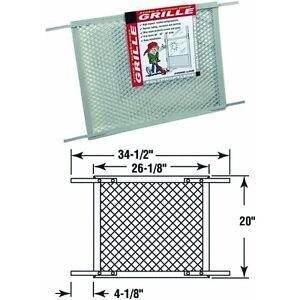 Plastic Screen Storm Door Grille Protector Gray