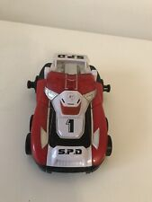 Vintage Power Rangers SPD DX Delta Megazord red No.1 car BANDAI 2004 Light Sound