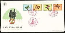 Indonesia Butterflies First Day Cover erstt agbrief 1990 Butterflies Fdc