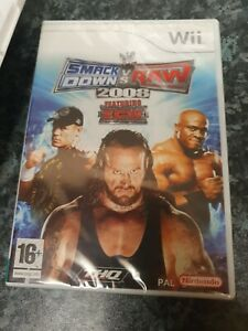 WWE SMACKDOWN VS RAW 2008 * NEW - SEALED * NINTENDO Wii GAME WITH MANUAL PAL