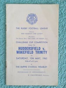 1962 - CHALLENGE CUP FINAL PROGRAMME OF ARRANGEMENTS - HUDDERSFIELD v WAKEFIELD