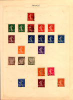 early 1900s stamp album page ! french stamps .