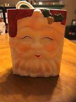 Vintage Christmas Ceramic Santa Face Gift Bag Look