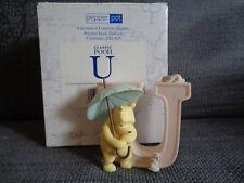 Classic Winnie the pooh Alphabet letter U ceramic children's room plaque (18)