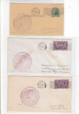 #776 Longview TEXAS Centennial 3 Covers 9/14/1936 OFFICIAL Lathrop Well !!