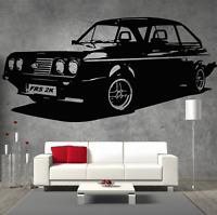 Ford RS200 Mk2 Escort Retro Old School Vinyl Sticker Wall Art Boys Room Garage