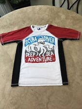 Op Boys Girls Short Sleeve Swim Shirt Rash Guard Sz M 8 Surf Great Condition