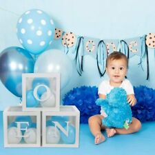 3 Boxes ONE Letter Stickers Transparent Baby Shower 1st Birthday Party Decor