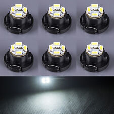 6 x White T5/T4.7 Neo Wedge LED Bulb SMD Cluster Instrument Dash Base Lights 12V