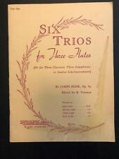 Six Trios for Three Flutes or Similar  - First Part - James Hook Op. 83  Vintage