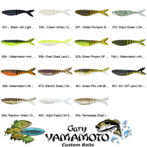 Gary Yamamoto Zako (134-06) Swim Bait Chatterbait 4 Inch Trailer Any 15 Colors