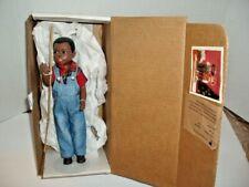 "Martha Holcomb Jody Black Fishing Boy Doll 10"" Jointed -All God's Children #2402"