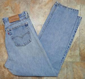 VTG Levi's 560 Womens Distressed Loose Fit Straight Leg Jean 13 JR M 32X30 USA