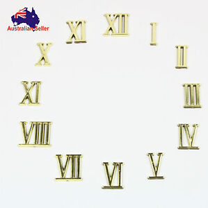 Gold Roman Numerals Clock Repair Numbers Kit DIY 22mm 1 x Whole Set New