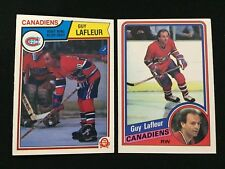 GUY LAFLEUR 1983 OPC & 1984 O-PEE-CHEE MONTREAL CANADIENS HOCKEY CARDS