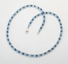 Topas-Kette - Blauer Topas mit Kyanit facettiert als Halskette in 46 cm Länge