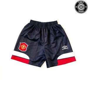 1994/96 MANCHESTER UNITED Vintage Umbro Home Change Football Shorts (S)