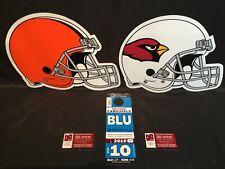 Arizona Cardinals vs Cleveland Browns 12/15 Blue BLU G Lot Parking Pass Tickets