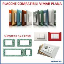 placche vimar plana 2 3 4 7 posti compatibili vari colori placca Supporto