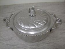 For sale is a Vintage Hammered Aluminum Serving Dish. It has a lid adorned with