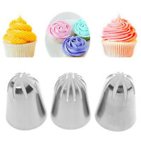 3pcs Large Russian Icing Piping Tips Set Cream Nozzles DIY Dessert Pastry TiHZY