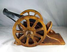 Courvoisier Cognac  Napoleon Canon Wood Decanter & Display Stand 12 Ins. Liquor