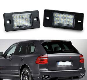 For Porsche Cayenne 02-09 Xenon White Rear Bumper LED License Plate Tag Light 2x