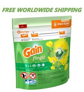Gain Flings Original Laundry Detergent Pods 14 CT WORLD WIDE SHIPPING