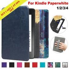 Para Amazon Kindle Paperwhite 1 2 3 4 Funda inteligente delgada magnética de cuero caliente