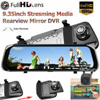 "10"" HD 1080P Car Rear View Mirror DVR Camera Dash Cam Streaming Media Parking"