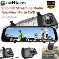 "Full Screen 10"" 1080P Car Rear View Mirror DVR Camera Dash Cam Streaming Media"