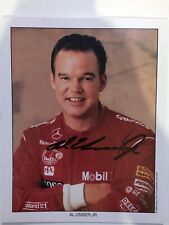 Al Unser Jr Autographed Mobile One Indy Car Photo